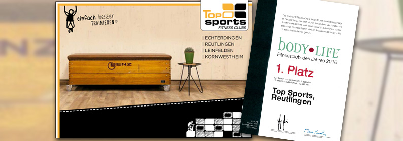 Kooperation Top Sports in Reutlingen, Echterdingen, Leinfelden, Kornwestheim